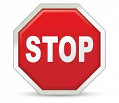 stop sign. Vector