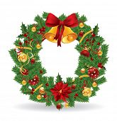 image of christmas wreath  - Christmas wreath - JPG