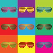 Pop art y gafas de sol