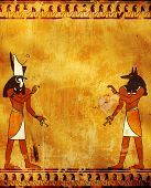 picture of horus  - Wall with Egyptian gods images  - JPG