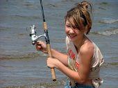 Girl On Fishing