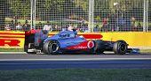 Lewis Hamilton in his Mclaren F1