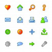 colorful basic web icons