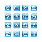 blue aqua server icons (raster)