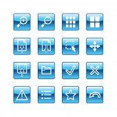 blue aqua image viewer icons (raster)