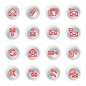 red e-mail icons (raster)