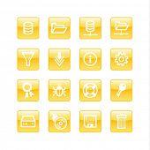 orange aqua server icons (raster)