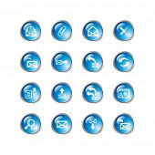 blue drop e-mail icons