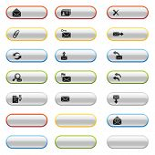 Glossy buttons with e-mail icons