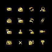 Gold e-mail icons