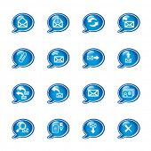 bubble e-mail icons