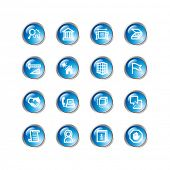 blue drop building icons