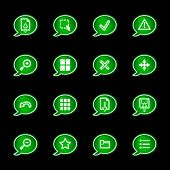 Green bubble viewer icons