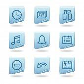 Organizer icons, blue sticker series