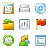 Administration web icons, alfa series