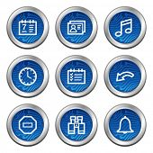 Organizer web icons, blue electronics buttons series