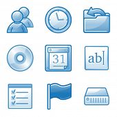Administration web icons, blue alfa series