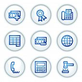 Finance web icons set 2, white circle buttons series