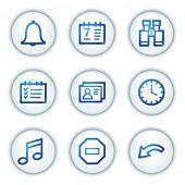 Organizer web icons, white circle buttons series