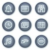 Organizer web icons, mineral circle buttons series