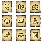 Medicine web icons set 2, papyrus series