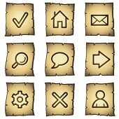 Basic web icons, papyrus series
