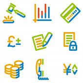 E-business icons, color contour series