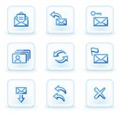 E-mail icons set 1,  square ice buttons