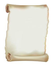 pic of scroll  - Old paper scroll on white background - JPG