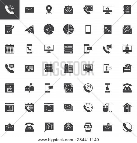 Contact Us Vector Icons Set