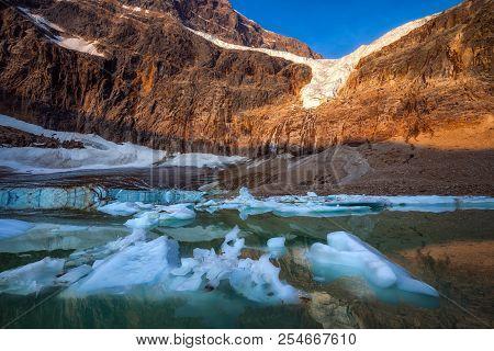Angel Glacier In Jasper National