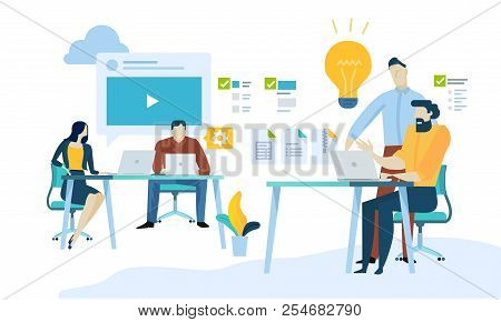 Vector Illustration Concept Of Content