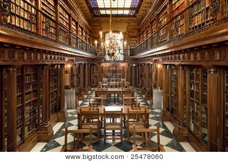 Постер, плакат: старые книги Библиотека внутри