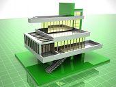 Model of house. 3d