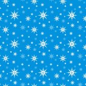 Seamless Snowflake Vector Background