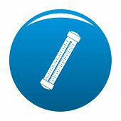 Medical Thermometer Icon. Simple Illustration Of Medical Thermometer Icon For Any Design Blue poster