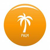 Palm Tree Icon. Simple Illustration Of Palm Tree Vector Icon For Any Design Orange poster
