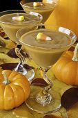 Butterscotch Pudding With Candy Corn