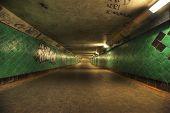 Hdri Of A Long Tunnel.