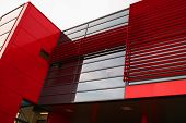 Red Modern Building