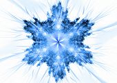 foto of ice crystal  - Highly detailed snowflake - JPG