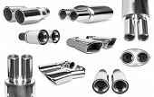 picture of exhaust pipes  - group sports exhaust pipe for the car - JPG