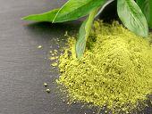 Matcha. Organic Green Matcha Tea Ceremony. Matcha Powder. Vegetarian Healthy Drink, Beverage, Japane poster
