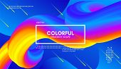 Abstract Wave 3d Background With Colorful Liquid. Vector Illustration. Trendy 3d Fluid Design For Bu poster