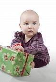 Young Baby With Gift