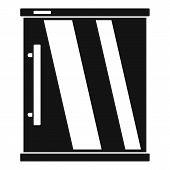 Mini Refrigerator Icon. Simple Illustration Of Mini Refrigerator Icon For Web Design Isolated On Whi poster