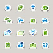 Paper cut - Vacation icons