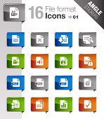 Angle Stickers - File format icons