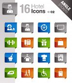 Angle Stickers - Hotel icons