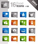 Angle Stickers - Food Icons